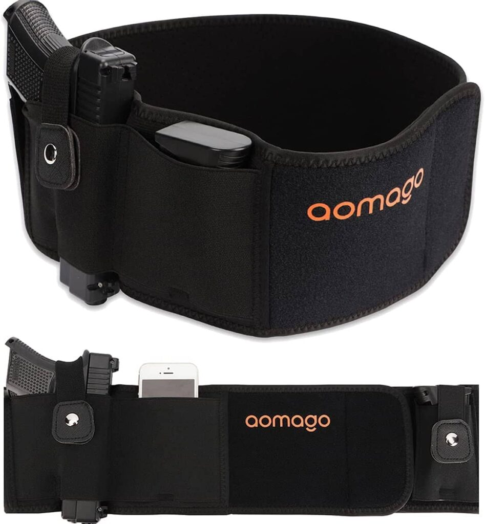 Aomago Belly Band Holster for Concealed Carry