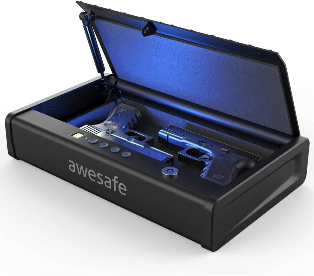 Awesafe Gun Safe with Fingerprint Identification and Biometric Lock
